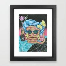 Still Life with Pizza Snake Framed Art Print