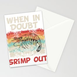 Martial Arts Taekwondo Fighter Design T-shirt Punch Kick When In Doubt Shrimp Out Karate JiuJitsu Stationery Cards