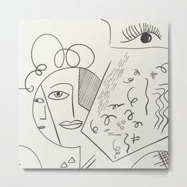 Cubist Perception  Metal Print