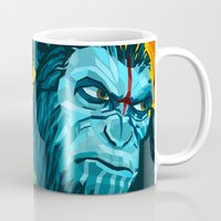 planet of the apes Mugs featuring Dawn Of The Planet Of The Apes by KD Artwork