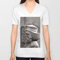 persian V-neck T-shirts featuring Persian Guards by Katayoon Photography