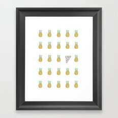 tropical pizza Framed Art Print