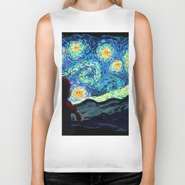 Special Man in Starry Night Biker Tank