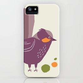 Quirky Superb Fairywren iPhone Case