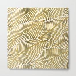 Tropical Gold Metal Print