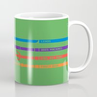 tmnt Mugs featuring TMNT by mattholleydesign
