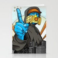 graffiti Stationery Cards featuring Graffiti by Helen Kaur