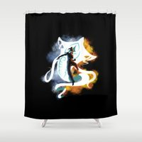 airbender Shower Curtains featuring THE LEGEND OF KORRA by Beka