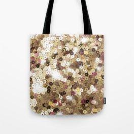 Gold Glitter Tote Bag