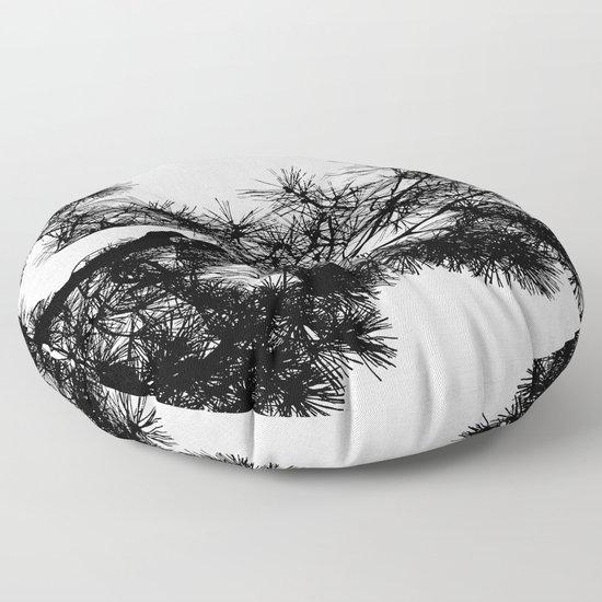 Pine Tree Black & White by paperpixelprints