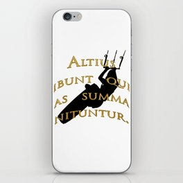 KiteSurf Freestyle They Will Rise Highest Who Strive High iPhone Skin