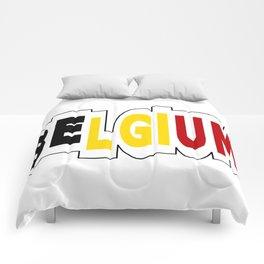 Belgium Font #1 with Belgian Flag Comforters