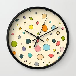 Retro abstract circles Wall Clock