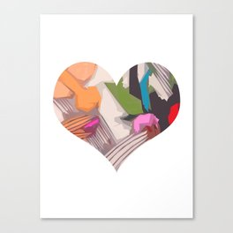 Deco Heart Canvas Print