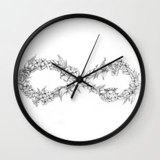 Forever a hippie Wall Clock