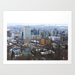 Montreal Cityscape Art Print