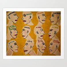 Human Thoughts Art Print