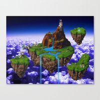 chrono trigger Canvas Prints featuring Floating Kingdom of ZEAL - Chrono Trigger by likelikes
