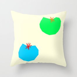 Words from Colorful Tomatoes - food vegetable illustration Throw Pillow
