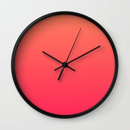 Peach Pink Gradient Wall Clock