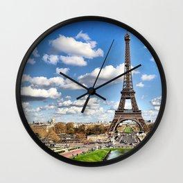 paris tour eiffel Wall Clock