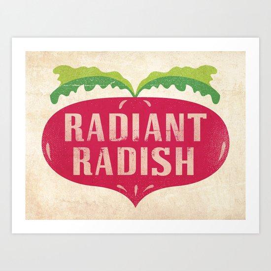 Radiant Radish Art Print