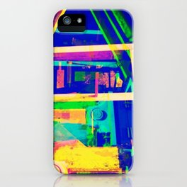 Industrial Abstract Blue iPhone Case