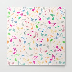 Music Colorful Notes IV Metal Print