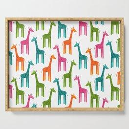 Giraffes-Multicolor Serving Tray