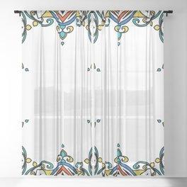 Mandala window Sheer Curtain