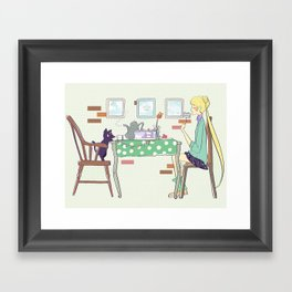 Sailor Tea Party Framed Art Print