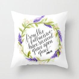 Grace Upon Grace  Throw Pillow