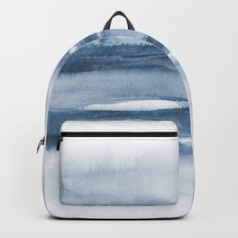 Indigo Clouds, Blue Abstract Art Backpack
