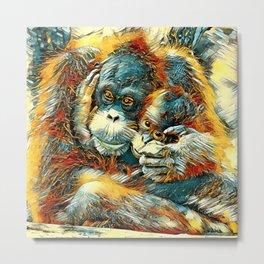 AnimalArt_OrangUtan_20170603_by_JAMColorsSpecial Metal Print