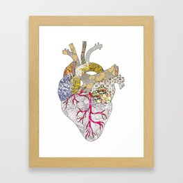 my heart is real Framed Art Print