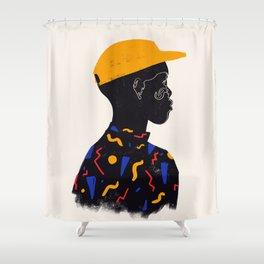 Yellow one Shower Curtain