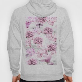 ORCHIDS ROSES MAGNOLIAS and Dragonflies Hoody