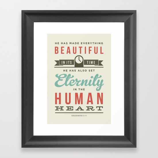 He has made everything beautiful Framed Art Print