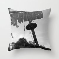 pirate ship Throw Pillows featuring Pirate Ship by Yellow Tie