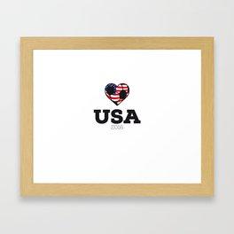 USA Soccer Shirt 2016 Framed Art Print