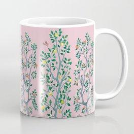 Citrus Grove Chinoiserie Mural in Pink Coffee Mug