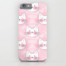 Little Girls Birthday Kitty Cats iPhone Case