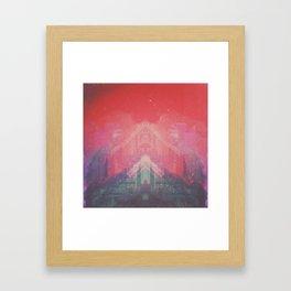  ight.travel end. Framed Art Print
