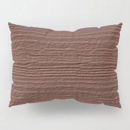 Cognac Wood Grain Texture Color Accent Pillow Sham