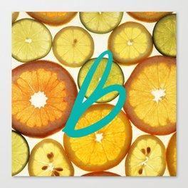 Citrus - Citron (Recettes du Bonheur) Canvas Print
