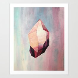 Stone in pink 1 Art Print