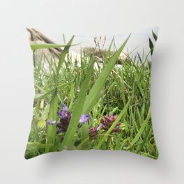 Peaceful View from My Morning Yoga Practice -- Pigeon Pose Throw Pillow