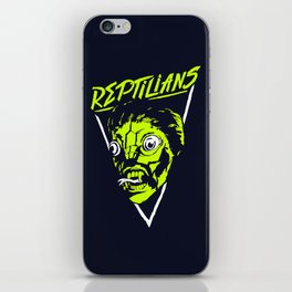 Reptilians iPhone Skin