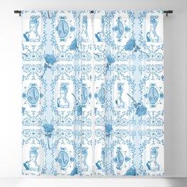 Marie-Antoinette Monogram (Aqua) Blackout Curtain