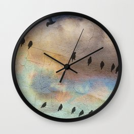 lazy birds Wall Clock